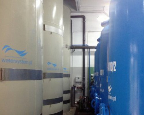 Process water treatment stations