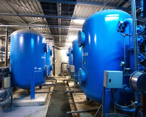 Surface water filtration for cooling system